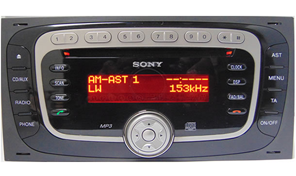 ford sony mp3 radio code. Black Bedroom Furniture Sets. Home Design Ideas